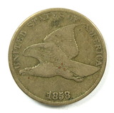 21.  1858  U.S. Flying Eagle Cent  Large Letters