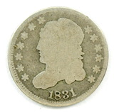 33.  1831   Capped Bust 5 Cent