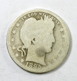 63.  1895-S Barber Quarter Dollar
