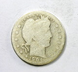 67.  1904-O Barber Quarter Dollar