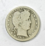 72.  1911-S Barber Quarter Dollar