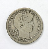 73.  1915-S Barber Quarter Dollar