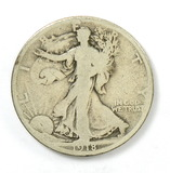 153.    1918-D Walking Liberty Half Dollar