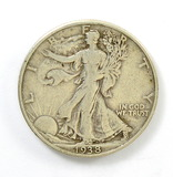 176.    1938-D  Walking Liberty Half Dollar