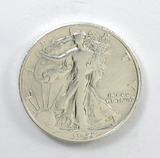186.    1942-D  Walking Liberty Half Dollar