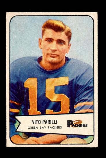 """1954 Bowman Football Card #10 Vito """"Babe"""" Parilli Green Bay Packers"""