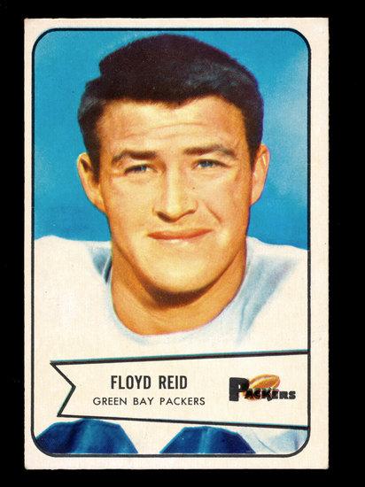 1954 Bowman Football Card #22 Floyd Reid Green Bay Packers