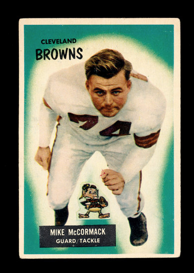 1955 Bowman ROOKIE Football Card #2 Rookie Hall of Famer Mike McCormack Cle