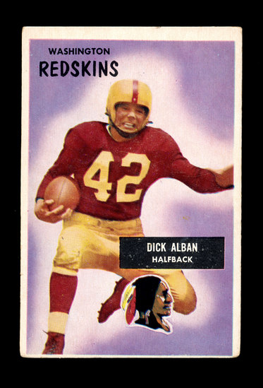 1955 Bowman Football Card #12 Dick Alban Washington Redskins