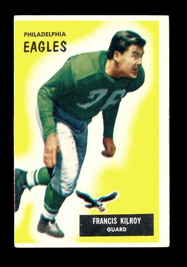 1955 Bowman Football Card #29 Francis Kilroy Philadelphia Eagles