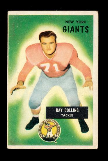 1955 Bowman Football Card #41 Ray Collins New York Giants