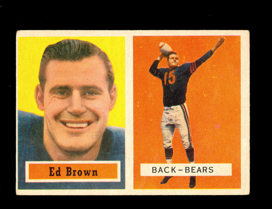 1957 Topps Football Card #43 Ed Brown Chicago Bears