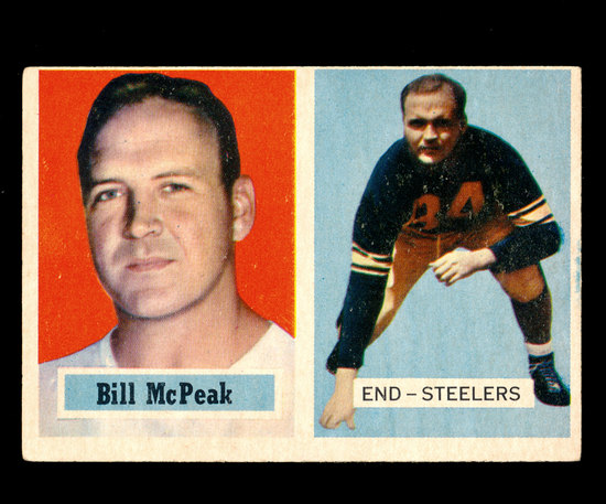 1957 Topps Football Card #51 Bill McPeak Pittsburgh Steelers