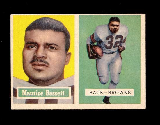 1957 Topps Football Card #64 Maurice Bassett Cleveland Browns