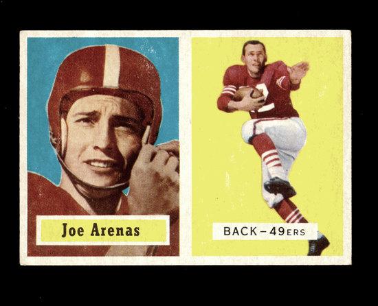 1957 Topps Football Card #66 Joe Arenas San Francisco 49ers