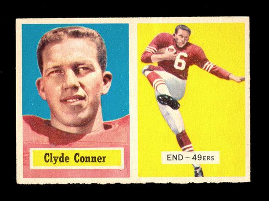 1957 Topps Football Card #78 Clyde Conner San Francisco 49ers