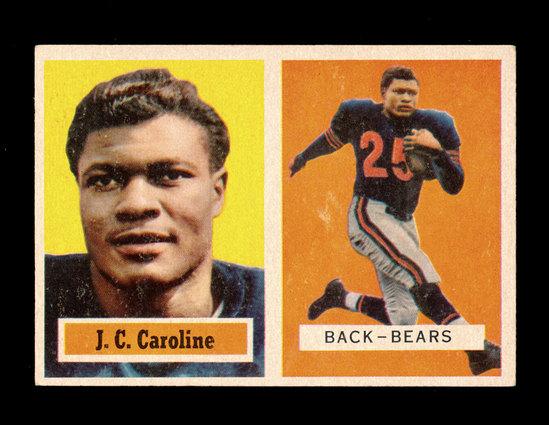 1957 Topps Football Card #79 J.C. Caroline Chicago Bears