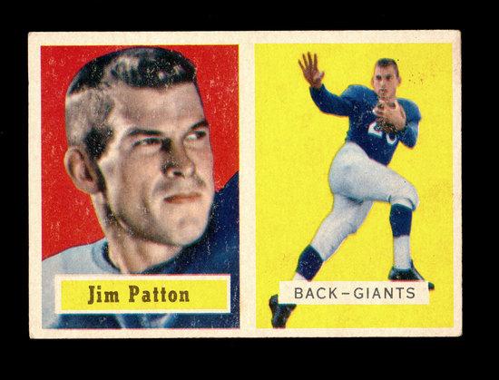 1957 Topps Football Card #83 James Patton New York Giants