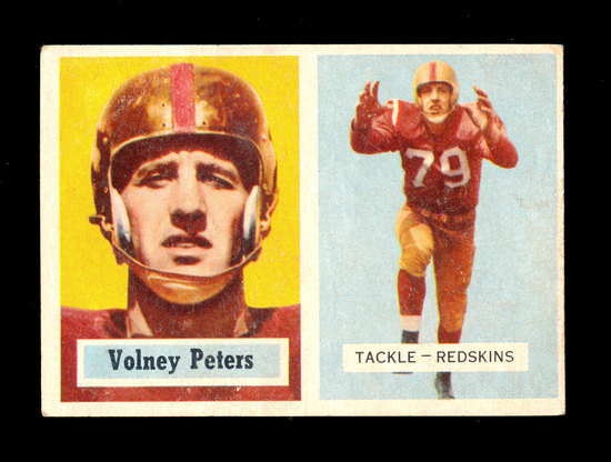 1957 Topps Football Card #84 Volney Peters Washington Redskins