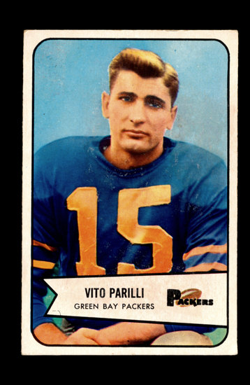 "1954 Bowman Football Card Vito""Babe"" Parilli Green Bay Packers"