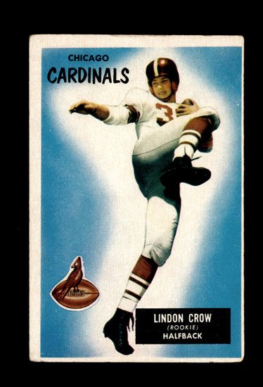 1955 Bowman Football Card #5 London Crow Chicago Cardinals.