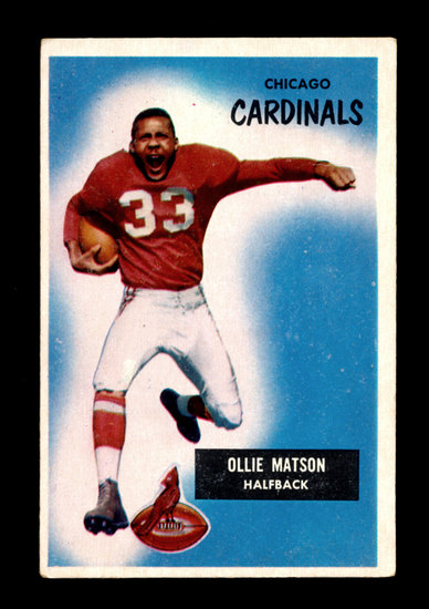 1955 Bowman Football Card #25 Hall of Famer Ollie Matson Chicago Cardinals
