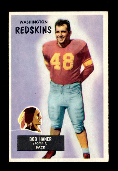 1955 Bowman Football Card #34 Robert Haner Washington Redskins