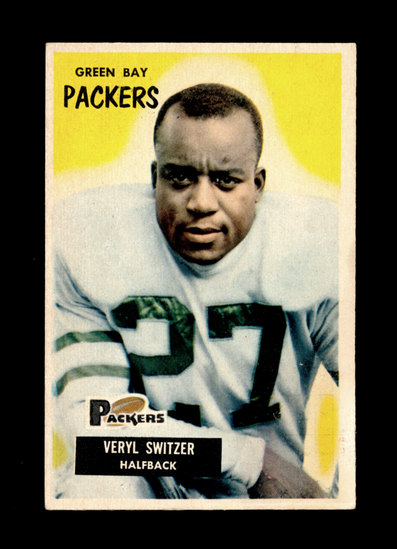 1955 Bowman Football Card #35 Veryl Switzer Green Bay Packers