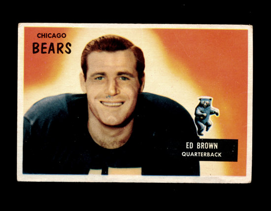 1955 Bowman ROOKIE Football Card #53 Rookie Ed Brown Chicago Bears. Has Cre