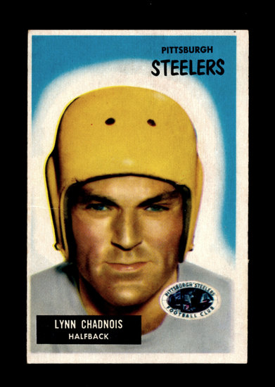 1955 Bowman Football Card #54 Lynn Chadnois Pittsburgh Steelers, Has crease