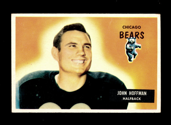 1955 Bowman Football Card #56 John Hoffman Chicago Bears