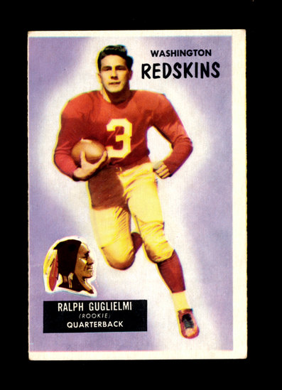 1955 Bowman Football Card #61 Ralph Guglielmi Washington Redskins