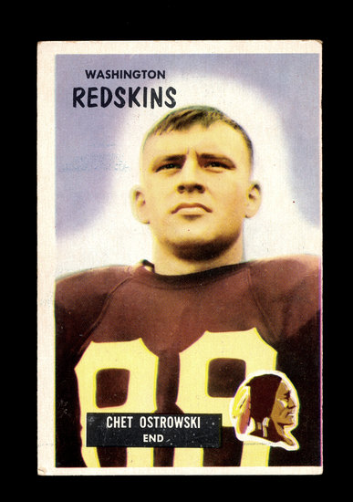 1955 Bowman Football Card #64 Chester Ostrowski Washington Redskins