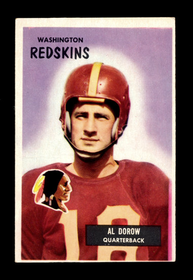 1955 Bowman Football Card #77 Albert Dorow Washington Redskins