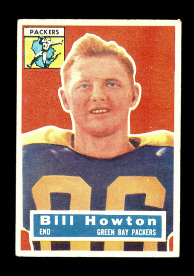 1956 Topps Football Card #19 Bill Howton Green Bay Packers
