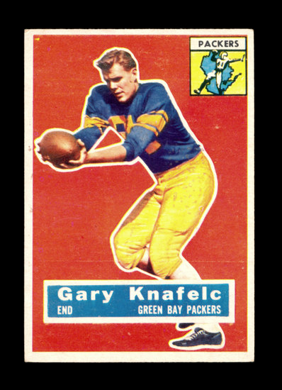 1956 Topps Football Card #43 Gary Knafelc Green Bay Packers