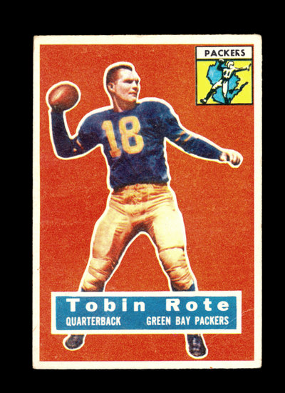 1956 Topps Football Card #55 Tobin Rote Green Bay Packers