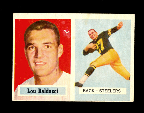 1957 Topps Football Card #4 Lou Baldacci Pittsburgh Steelers