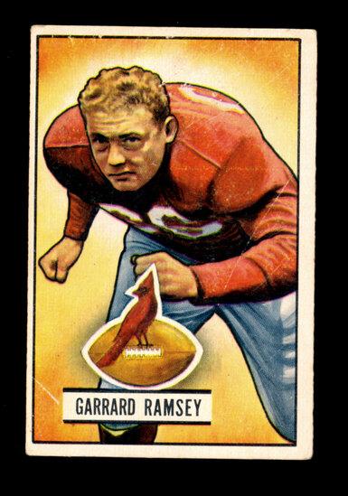 1951 Bowman Football Card #28 Garrard Ramsey Chicago Cardinals