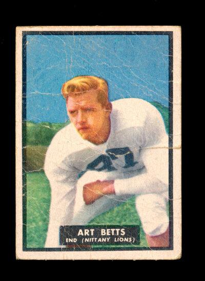 1951 Topps Magic Football Card #25 Art Betts Nittany Lions