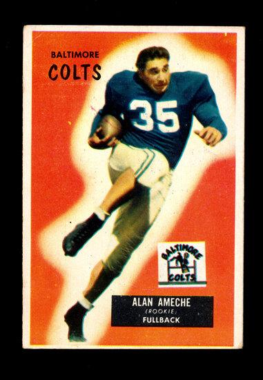 1955 Bowman ROOKIE Football Card #8 Rookie Alan Ameche Baltimore Colts