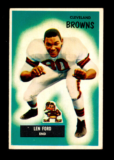 1955 Bowman ROOKIE Football Card #14 Rookie Hall of Famer Lennie Ford Cleve