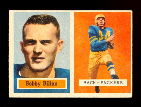 1957 Topps Football Card #9 Hall of Famer Bobby Dillon Green Bay Packers