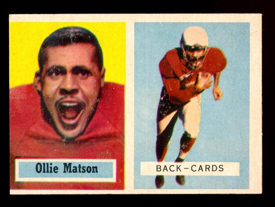 1957 Topps Football Card #26 Hall of Famer Ollie Matson Chicago Cardinals
