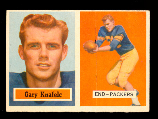 1957 Topps Football Card #45 Gary Knafelc Green Bay Packers