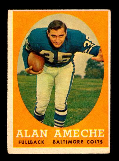 1958 Topps Football Card #12 Alan Ameche Baltimore Colts