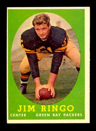 1958 Topps Football Card #103 Hall of Famer Jim Ringo Green BaY Packers