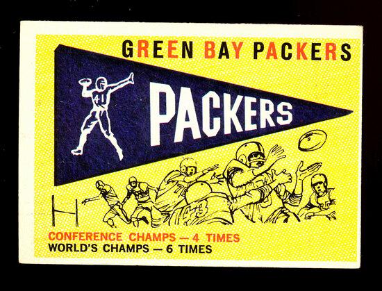 1959 Topps Football Card #98 Green Bay Packer Pennant Card
