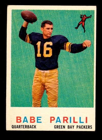 1959 Topps Football Card #107 Babe Parilli Green Bay Packers