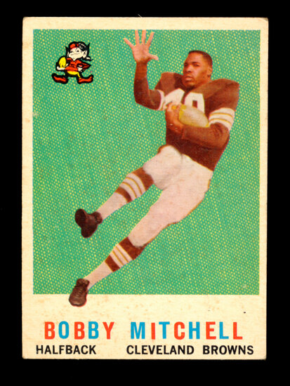 1959 Topps ROOKIE Football Card #140 Rookie Hall of Famer Bobby Mitchell Cl